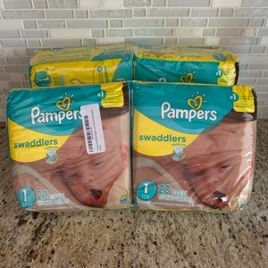 Lot of 4 Pampers Swaddlers Baby Diapers 8-14 lbs